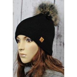 Čepice Agata černá